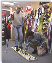Come to Ragged Mountain Equipment in Intervale and let one of our technicians help you choose the right ski for your weight and ability.